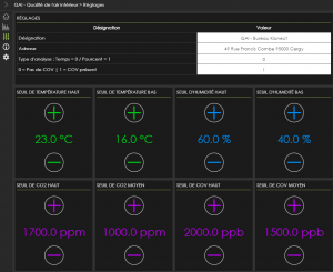 solutions connectées paramétrage-qualité-de-l'air-interieur